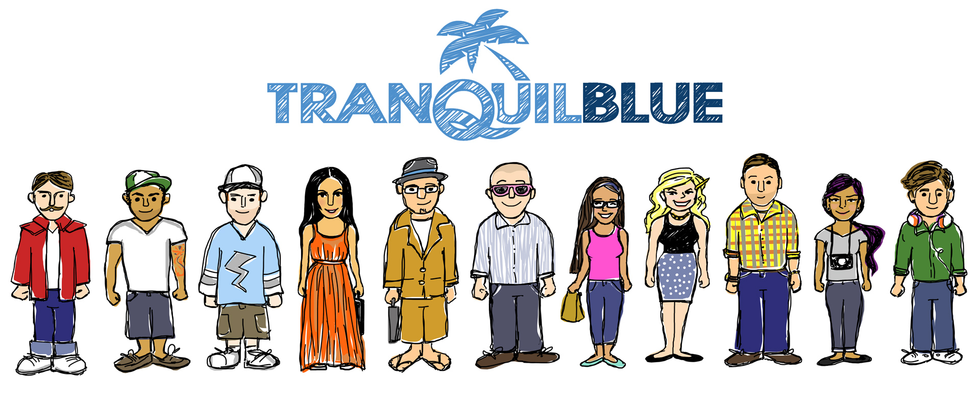 Tranquil Blue Team Illustration